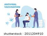 oronavirus vaccination. woman...   Shutterstock .eps vector #2011204910