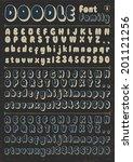 doodle vector font family 5 on... | Shutterstock .eps vector #201121256