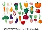 autumn vegetables. doodle...   Shutterstock .eps vector #2011226663