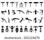 set of black silhouette of...   Shutterstock .eps vector #201124670