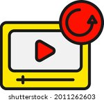 reload line filled vector icon... | Shutterstock .eps vector #2011262603