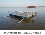 A Pier Near The Coast In The...