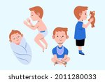 stages of a baby. process stage....   Shutterstock .eps vector #2011280033