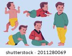 stages of a baby. process stage....   Shutterstock .eps vector #2011280069