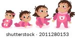 stages of a baby. process stage....   Shutterstock .eps vector #2011280153