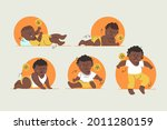 stages of a baby. process stage....   Shutterstock .eps vector #2011280159