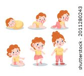 stages of a baby. process stage....   Shutterstock .eps vector #2011280243