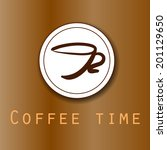 brown coffee background with... | Shutterstock .eps vector #201129650