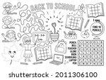 vector back to school placemat... | Shutterstock .eps vector #2011306100