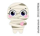 baby the mummy. happy cartoon... | Shutterstock .eps vector #2011329836