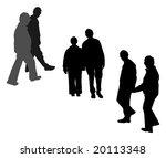couple walking hand in hand ... | Shutterstock . vector #20113348