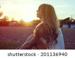 sunny portrait of a beautiful... | Shutterstock . vector #201136940