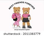 teddy bear vector art design... | Shutterstock .eps vector #2011383779
