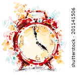crazy clock | Shutterstock .eps vector #201141506