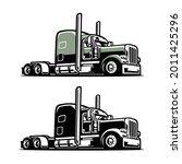 semi truck 18 wheeler premium...   Shutterstock .eps vector #2011425296
