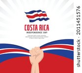 costa rica flag. independence... | Shutterstock .eps vector #2011451576