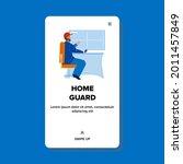 home guard watching video...   Shutterstock .eps vector #2011457849