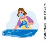 resin art making woman artist...   Shutterstock .eps vector #2011457876