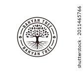 banyan tree vintage retro...   Shutterstock .eps vector #2011465766