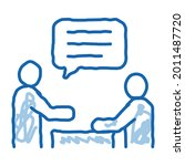 dialogue of two people sketch...   Shutterstock .eps vector #2011487720