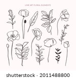 one line floral elements in...   Shutterstock .eps vector #2011488800