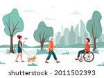 outdoor activity. people...   Shutterstock .eps vector #2011502393