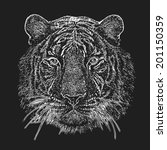 psychedelic tiger head... | Shutterstock .eps vector #201150359