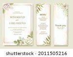 elegant wedding invitation...   Shutterstock .eps vector #2011505216
