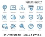 cyber security icons  such as...   Shutterstock .eps vector #2011519466