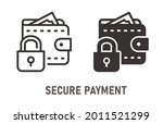 secure payment icon. vector...   Shutterstock .eps vector #2011521299