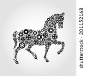 vector image of an horse | Shutterstock .eps vector #201152168