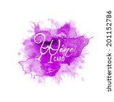 vector watercolor splash witch... | Shutterstock .eps vector #201152786