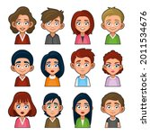 cute young peoples avatar...   Shutterstock .eps vector #2011534676