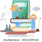 free course of studying ecology ...   Shutterstock .eps vector #2011539143
