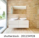 nice modern bathroom  marble... | Shutterstock . vector #201154928