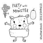 funny cute alien monster... | Shutterstock .eps vector #2011549613