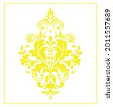 damask graphic ornament. floral ...   Shutterstock .eps vector #2011557689