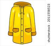 rain protection. yellow... | Shutterstock .eps vector #2011558523