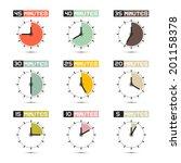 clock face vector illustration... | Shutterstock .eps vector #201158378