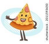 cartoon pizza character...   Shutterstock .eps vector #2011593650