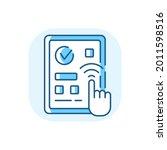 predictive touch technology...   Shutterstock .eps vector #2011598516