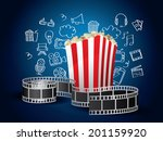 realistic movie elements with... | Shutterstock .eps vector #201159920