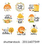 autumn collection with... | Shutterstock .eps vector #2011607549