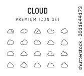 premium pack of cloud line...
