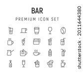 premium pack of bar line icons. ...