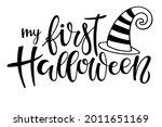 my first halloween lettering... | Shutterstock .eps vector #2011651169