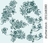 vector set of hand drawn... | Shutterstock .eps vector #201168380