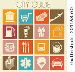 city guide icons | Shutterstock .eps vector #201168590