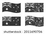 australia grunge flag set  dark ...