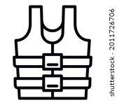 snorkeling rescue vest icon....   Shutterstock .eps vector #2011726706